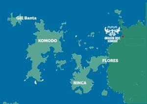carte du parc national de Komodo